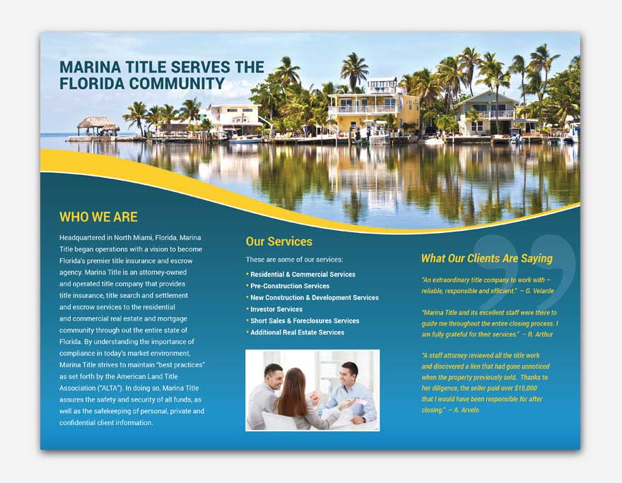 MarinaTitle-2-trifold-printing-brochure-in-miami-lakeland-florida